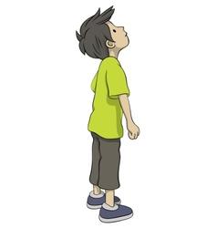 Boy is looking up vector