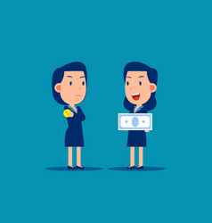 Business person and job salary concept finance vector