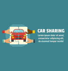 car sharing concept banner flat style vector image