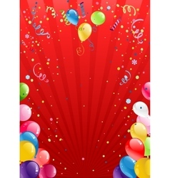 Celebration red background with balloons vector