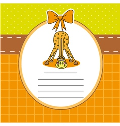 Child card with a giraffe vector image