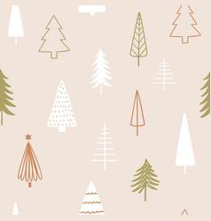christmas season seamless pattern abstract vector image