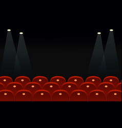 cinema seats in front of vector image