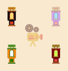 Collection in flat style vector