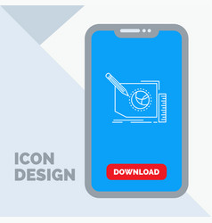content design frame page text line icon in vector image