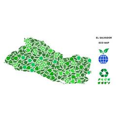 eco green composition el salvador map vector image