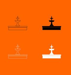 Fountain icon vector