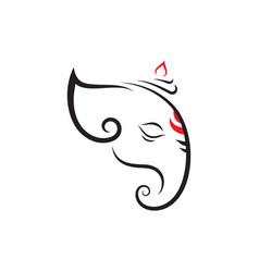 ganesha icon design vector image
