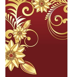 Golden floral vector