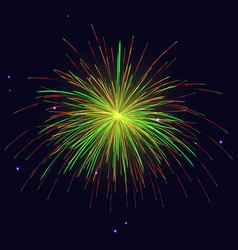 golden red green fireworks holidays background vector image