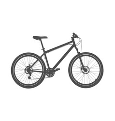 grey bicycle silhouette vector image