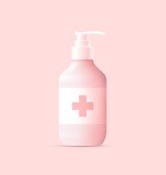 Hand sanitizer alcohol gel bottle silhouette vector
