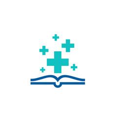 Health book logo icon design vector