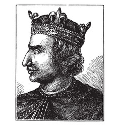 henry the first vintage vector image