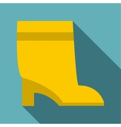 High boot icon flat style vector
