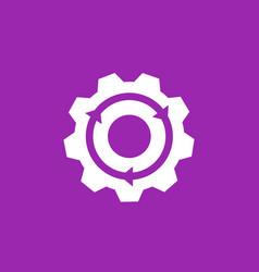 integration icon gear and arrow vector image