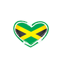 Jamaica flag on a white vector