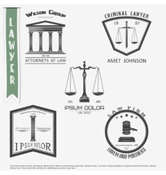 lawyer services law office the judge vector image