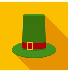 Leprechaun Hat in Flat Style with Long Shadows vector image
