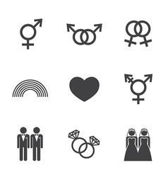 LGBT symbol icon vector