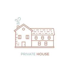 Line House vector image