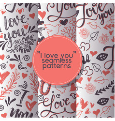 love lettring seamless pattern lovely vector image