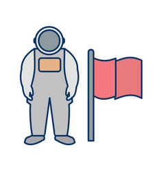 Man with flag icon vector