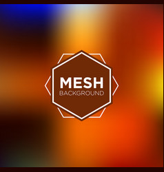 Mesh background in rust color palette vector