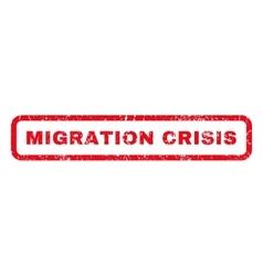 Migration Crisis Rubber Stamp vector