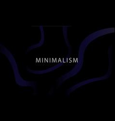 minimalistic dark background vector image