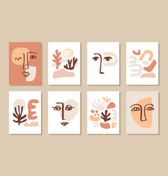 modern abstract cover templates set vector image