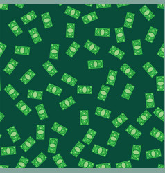 Money bank notes on green pattern background vector