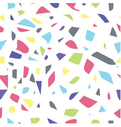 multicolored seamless terrazzo pattern background vector image
