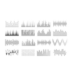 music waves audio recorder equalizer or pulse vector image