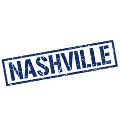 Nashville blue square stamp vector