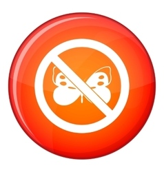 No butterfly sign icon flat style vector