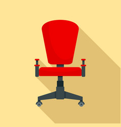 office desk chair icon flat style vector image
