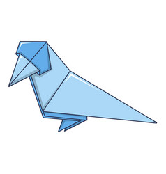 origami bird icon cartoon style vector image