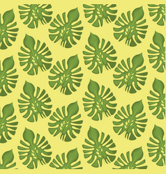pattern color set decorative of palm green leaves vector image