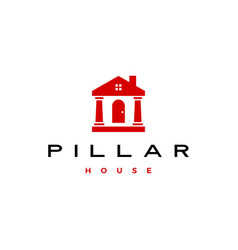 pillar house logo icon vector image