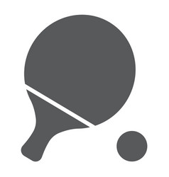 ping pong glyph icon game and sport racket sign vector image