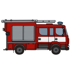 Red fire truck vector