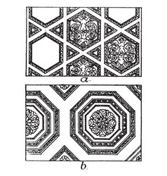 Roman ceiling panels a coffer in architecture vector