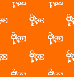 safe money pattern orange vector image
