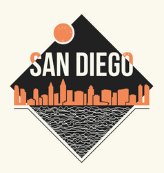 San diego graphic t-shirt design tee print vector