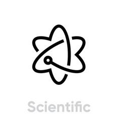 Scientific religion icon editable line vector