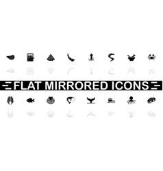 sea food - flat icons vector image