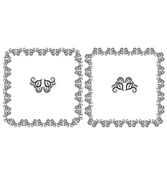Set openwork floral frame for design vector