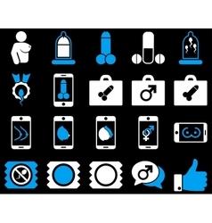 Sex bicolor icons vector image