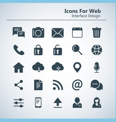 simple stylish outline icon set for web and mobile vector image